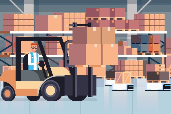 Illustration of Warehouse by A Van About Town