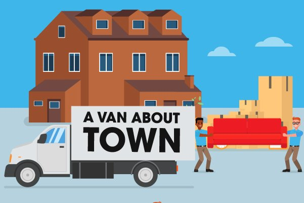 Illustration of large home removal service by A Van About Town